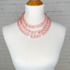 Sugarfix Clear Pink Acrylic Statement Necklace
